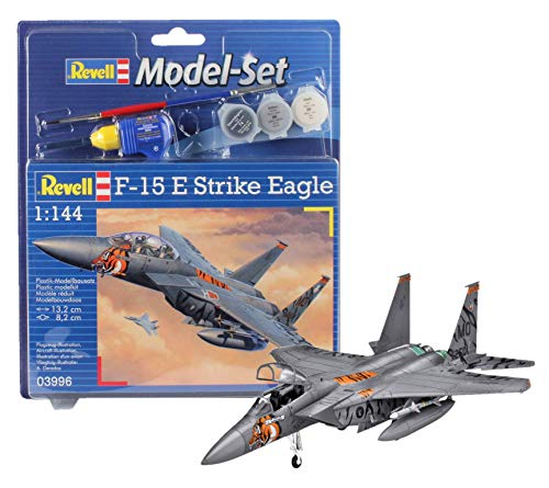 Revell - Maqueta Modelo Set F-15E Strike Eagle, Escala 1:144 (63996)