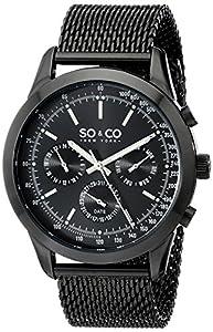 SO & CO New York Monticello 5006A.3 - Reloj de pulsera Cuarzo Hombre correa deAcero inoxidable Negro de SO & CO New York