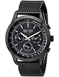 SO & CO New York Monticello 5006A.3 - Reloj de pulsera Cuarzo Hombre correa deAcero inoxidable Negro