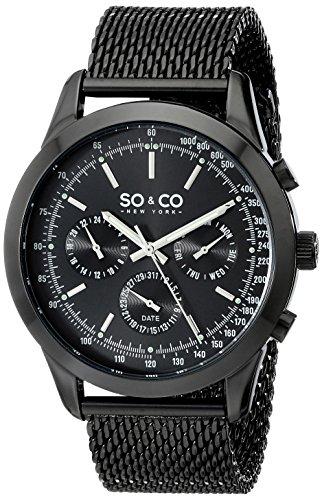 SO&CO New York Monticello Herren-Armbanduhr Analog Quarz Edelstahl - 5006A.3