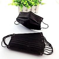 30 pièces éponge élastique Earloop anti-poussière masque anti-poussière filtre à poussière couverture bouche avec paquet individuel et 4 couches de protection pour les magasins et les activités de plein air (noir)