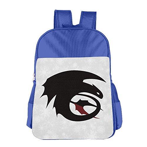 Niños niñas cómo entrenar a tu dragón sin dientes mochila bolso de escuela (2Color: Rosa Azul) azul eléctrico
