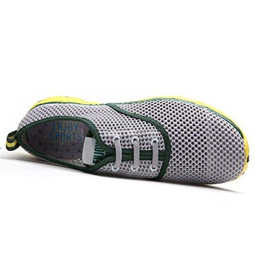 Oriskey Chaussons pour Sport Aquatique Aqua Chaussures nautiques de plage et d'eau de randonnée pour homme Gris