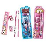 30x Cute Crayons de Bois,Gomme Crayon Enfant,Cadeau Fete Anniversaire Enfant, Crayons Set(2X Crayon, 1x règle, 1x Gomme, 1x Taille-Crayon)