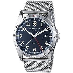 Victorinox Swiss Army–Reloj de pulsera hombre analógico cuarzo acero inoxidable 241649