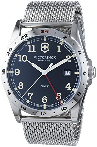 Victorinox Swiss Army Men's Quartz Watch with Black Dial Analogue Display Quartz Stainless Steel 241649