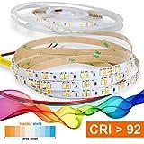 Mextronic LED Streifen LED Band LED Strip 2835 TUNABLE WHITE (2700-6000K) CRI 92 72W 5 Meter 24V IP20