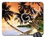 POGJY Gaming Mauspad 7 x 8 Inches, Mousepad, Verbessert Präzision und Geschwindigkeit, Gummiunterseite für Stabilen Halt auf Glatten Oberflächen, Rutschfest, Strapazierfähig Schwarz - Ruhender Panda Bär image 463
