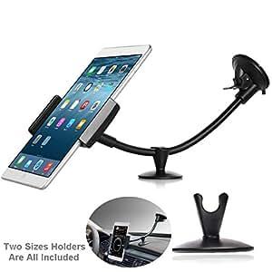 Nextany universale cruscotto parabrezza lungo braccio auto supporto con base ultra supporto per telefono e tablet, applicabile a mobile per 3.5–12,7cm, e 17,8cm compresse