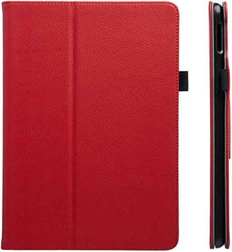 AmazonBasics iPad 2017 PU Leather Case Auto Wake/Sleep Cover, Red, 9.7