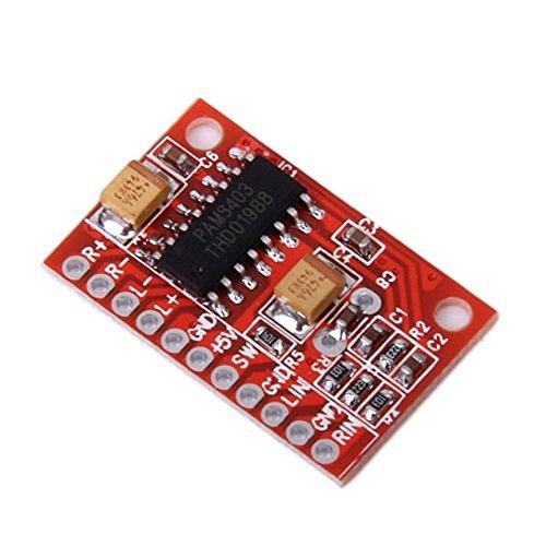 Foxnovo High Power Super Mini Digital-Audioverstärker Board Platine (rot) (Platine Power)