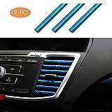Eipek - Strisce per bocchetta dell'aria dell'auto, per condizionatori d'aria, a forma di U, decorazione colorata per l'interno dell'auto, confezione da 10 pezzi