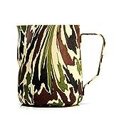 Teakettles Spitz Kaffeemaschine Camouflage Farbe Ziehen Blumentopf/Ausgefallene Kaffee 304 Dicke Edelstahl Trendige Stil Heizung Und Anti-Skalieren Kaffeekanne/Teekanne Verschiedene Getränke Geräte