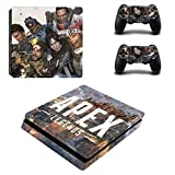 Apex Legends Skin Sticker für Sony PlayStation4 Slim PS 4 Slim Konsole und Controller Skins Vinilo Sticker Pegatinas für PS4 Slim Skin, PS4 Pro Skin, PS4 Skin Sticker A528