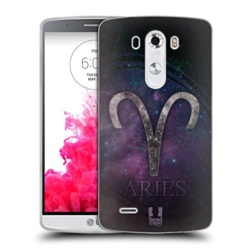 Head Case Designs Ariete Nebulose Zodiacali Simboli Cover Morbida In Gel Per LG G3 / D855 / D850 /