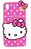 ANVIKA Girls Choice Hello Kitty Soft Silicon with Pendant Back Cover for HTC Desire 820 - Pink
