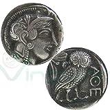 Nouvelle Reproduction métal réplique monnaie ancienne Athena Grèce chouette Athènes...