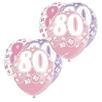 "Mixed Pink/White/Purple Glitz Girls Classy Happy Birthday Balloons, Anniversary, Special Occasion, Party Decoration Latex 12"" Balloons 6 In Each Pack All Ages"