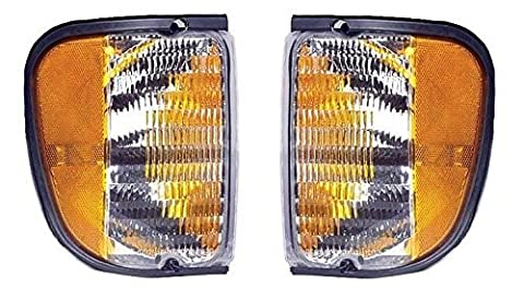 Fits 92 - 07 Ford Full Size Van E150 E250 E350 Cornerlight Cornerlamp Pair Set Driver and Passenger E Series by Not