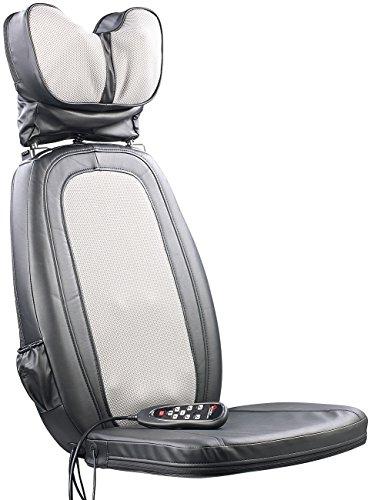 newgen medicals Shiatsu-Sitzauflage MA-600, Nackenmassage, Tiefenwärme -