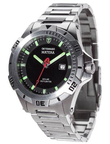 Detomaso DT2044-E – Reloj de pulsera hombre, acero inoxidable, color plateado