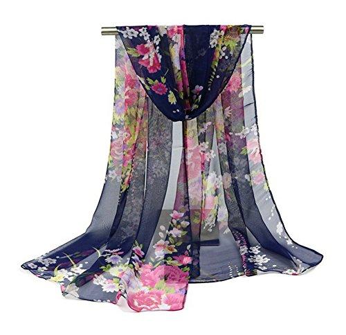 Aloiness sciarpe sciarpa stole chiffon delle sciarpe scialle cerimonia ideale per abiti da sera, matrimoni, feste, per damigella d'onore, sposa o vestiti da sposa o prom proms