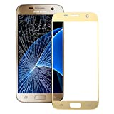 KlickaDeal® Für Original Samsung Galaxy S7 Gold G930 LCD Display Front Glas Glass Touch Screen Glas S7 Matt Gold G930