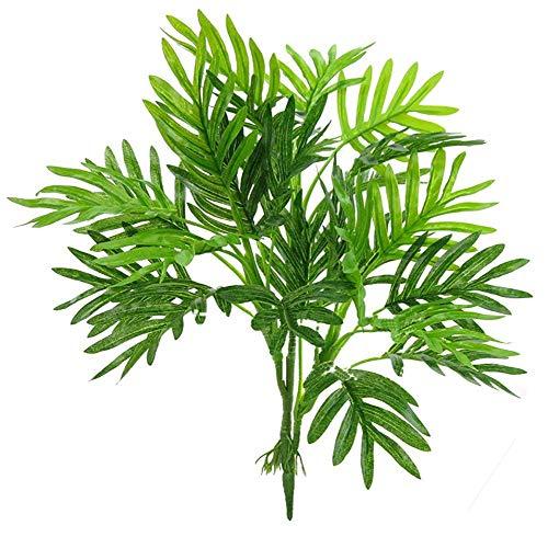 lm Blätter, künstlichen Palm Tree Leaf Nachahmung Leaf Pflanzen Grün Grün Pflanzen Tropical Große Palmen für Party Blumen Arrangement Hochzeit Dekorationen ()