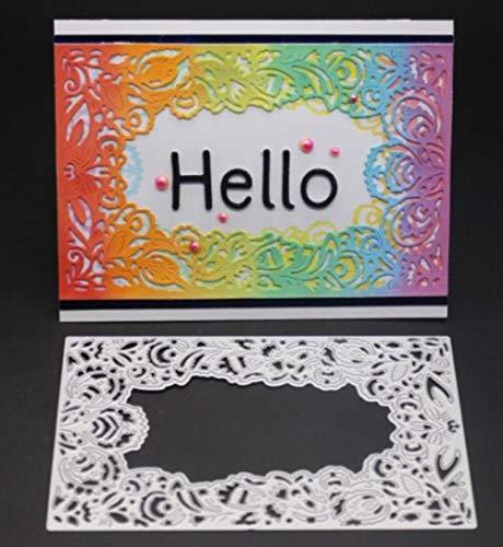 CTOBB Umschlag Cut Scrapbook Metallschneideisen für Scrapbooking Stencils DIY Album-Karten Dekoration Embossing Folder Cuts Die, 9x14cm - Wort Embossing Folder