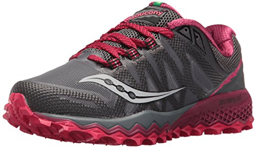 Saucony Women's Peregrine 7 Trail Running Shoe Grey Berry