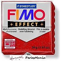 1pan 56G Pate polímero Fimo Effect rojo Paillete 8020–202
