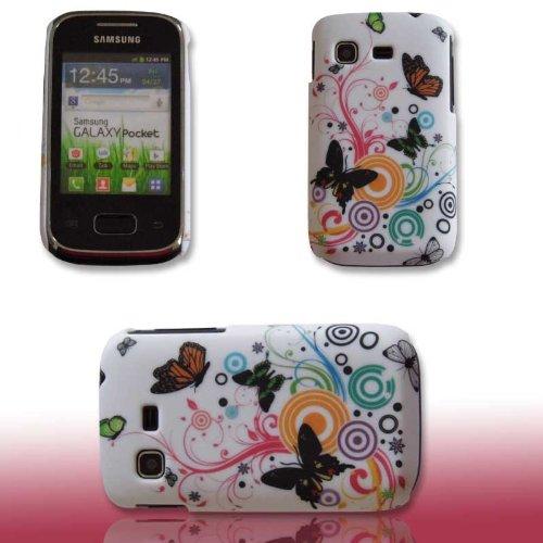 Handy Tasche Hard Case Cover Samsung GT-S5300 Galaxy Pocket / Handytasche Schutzhülle Butterfly M1