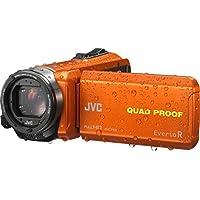 JVC GZ-R435DEU Videocamera Full HD QUAD PROOF (subacquea fino 5m e resistente a forti getti d'acqua, antiurto, antipolvere, anticongelamento), fotocamera 10 Megapixel, memoria interna 4GB, Arancio