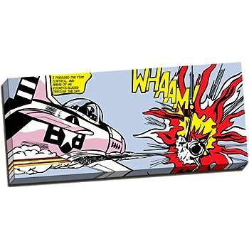 Framed Canvas Roy Lichtenstein Whaam Dogfight Pop Art