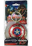 Marvel Men's Captain America Shield Pewter Key Ring