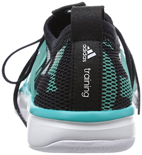 adidas Core Grace, Chaussures de Running Entrainement Femme Blanc / noir / vert (blanc Footwear / noir essentiel / vert impact)