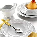 Kütahya Porzellan | Mitterteich Silvia | 83 Teilig | Tafelservice | Teller-Set | Esservice | Tafel-Set | Porzellan | Weiß | 12 Personen |