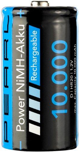 PEARL Akku Mono: NiMH-Akku Monozelle Typ D 10000 mAh (Batterien Typ D)