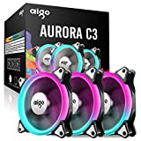 Aigo Ventilator, Einstellbarer Luftstrom mit Fernbedienung, Geschwindigkeit und LED-Anzeigen Einstellbar
