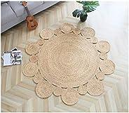 Hand Woven Rug Comfortable Round Rug Living Room Bathroom Bedroom Study Carpet Home Decor Floor Mat 4 Sizes Av