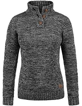 Desires Philicita Jersey De Punto Troyer Suéter Sudadera De Punto Grueso para Mujer con Cuello Alto De 100% algodón