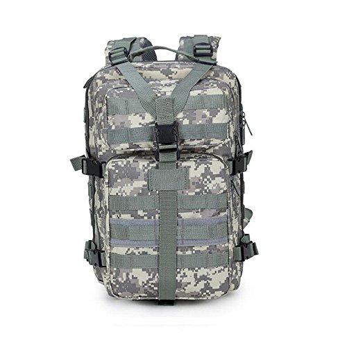 Z&N Militärfans wasserdichtes Nylon militärischer Angriff taktischer Rucksack Outdoor-Schultern Mountain-Rucksack wasserdichte Camouflage-Tasche große Kapazität 33L atmungsaktiv langlebig leicht ACU