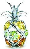 Crystocraft Ananas Miniature - Couleur argentée Perles de Swarovski® - Cadeau Objet de décoration