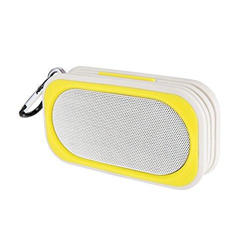 Proxelle - Mini Altavoz Bluetooth Impermeable Waterproof IP67 Bafles Portátiles Wireless Sin cables Resistente Al Agua Manos Libres Micrófono para Android iPhone PC Laptop, Amarillo