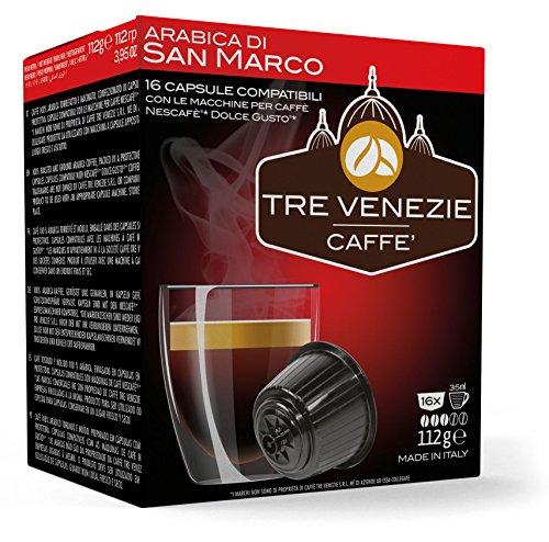 Order 64 Tre Venezie Italian Coffee, Dolce Gusto Compatible Capsules / Pods, Mixed Box 4 x 16 capsules per case. £0.24p per capsule from Tre Venezie S.r.l.