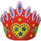 Corona de Cumpleaños Diamante de Imitación Color Rojo Bricolaje