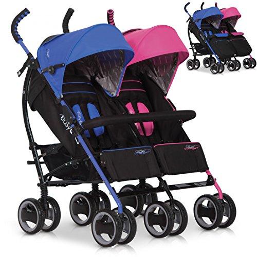 Passeggino per fratelli sorelle DUO COMFORT por bambino gemellari e doppi, colore: mix