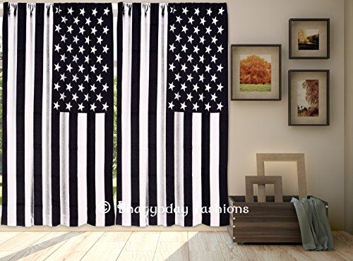Exklusiven amerikanischen Flagge Fenster Vorhang, Indian Tür Gardinen, Vorhänge für Schlafzimmer, Wohnzimmer Wand Decor, Seite Tür Vorhang Panel 2Pcs Set by bhagyoday Fashions