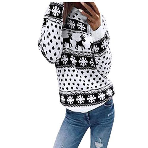 VEMOW Weihnachten Frauen Sweatshirt Herbst Heißer Casual Daily Party Sport Freizeit Reißverschluss Punkte Drucken Tops Mit Kapuze Pullover Bluse T-Shirt(Y3-Schwarz, EU-40/CN-XL)