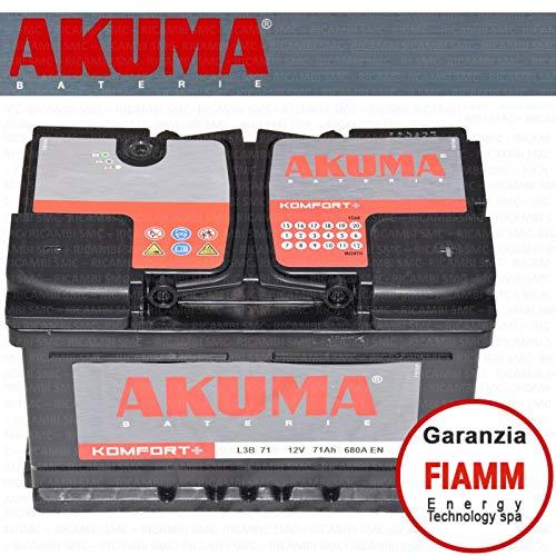 Batteria Auto Akuma = Fiamm 71 Ah 12V 680A En Originale Nuov